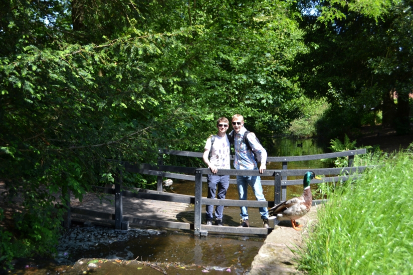 Gary and myself before our wild walk.  Photobombed by a Mallard! ;)