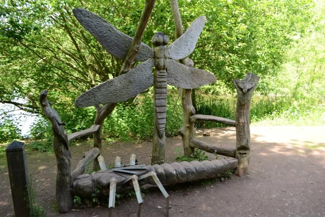 A wild sculpture, I assume it's a bench?