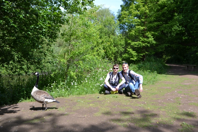 This time we were photobombed by a Canada Goose! ;)