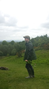 Holding my 'art' materials at/from the country park I grew up on