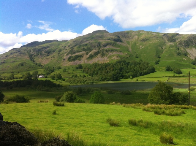 It was just our wee garden & a field that separated us from Little Langdale Tarn <3