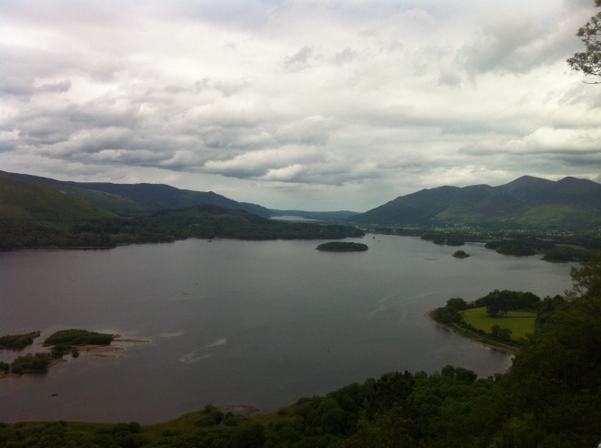 (Far left) Looking down at Derwentwater.