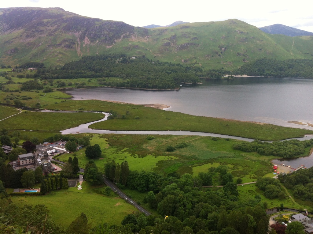 Looking down at Derwentwater (far right)
