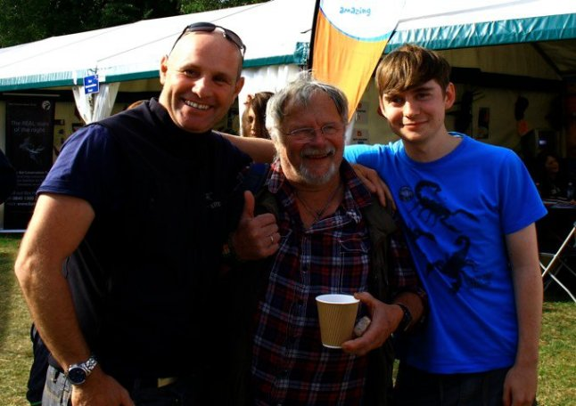 Birdfair 2011 - second time meeting Mike Dilger, first time meeting Bill Oddie.