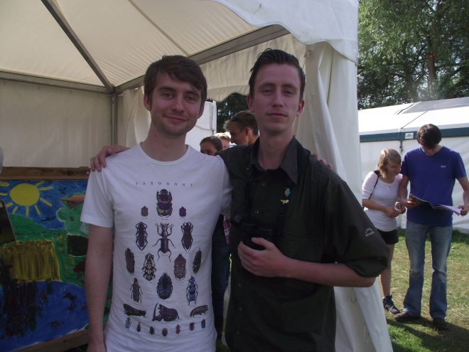 This year - Me & James Burman (that's Alex & Gordon looking at the Birdfair programme) :)