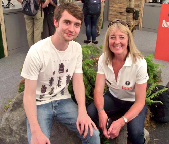 Birdfair 2015 - Me and Kate MacRae