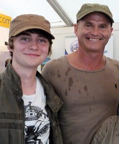 Birdfair 2010 - Me and Simon King OBE.