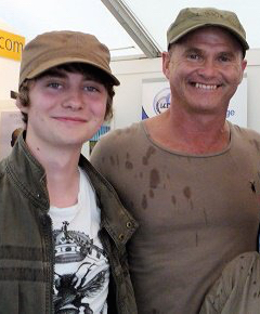 Birdfair 2010 - Me and Simon King OBE.