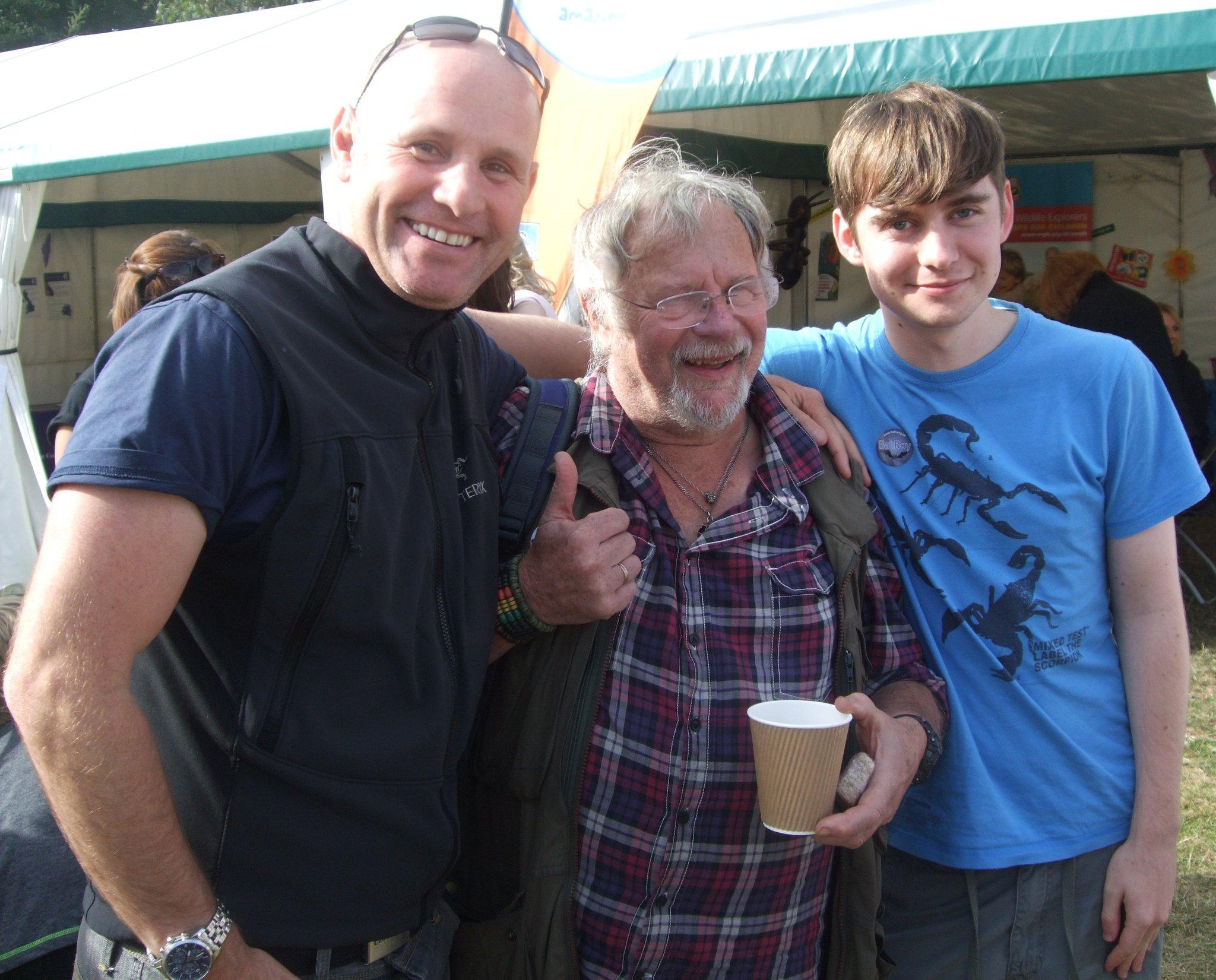 Birdfair 2011 - Mike Dilger, Bill Oddie & Adam Canning