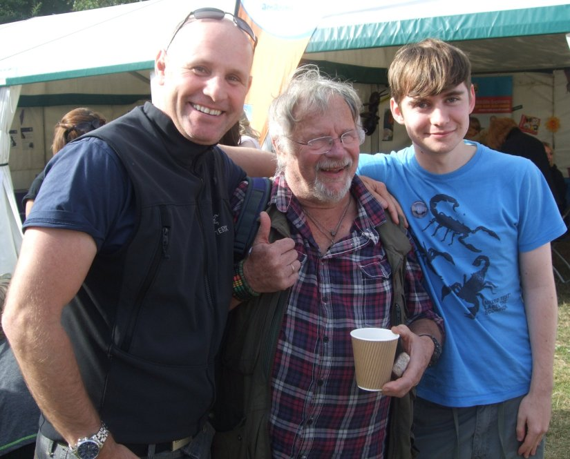 Birdfair 2011 - Mike Dilger, Bill Oddie & Adam Canning