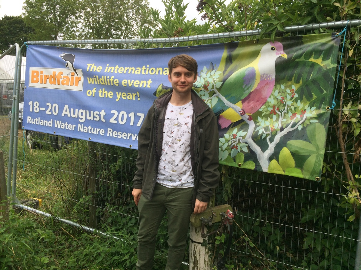 Adam Canning at Birdfair 2017