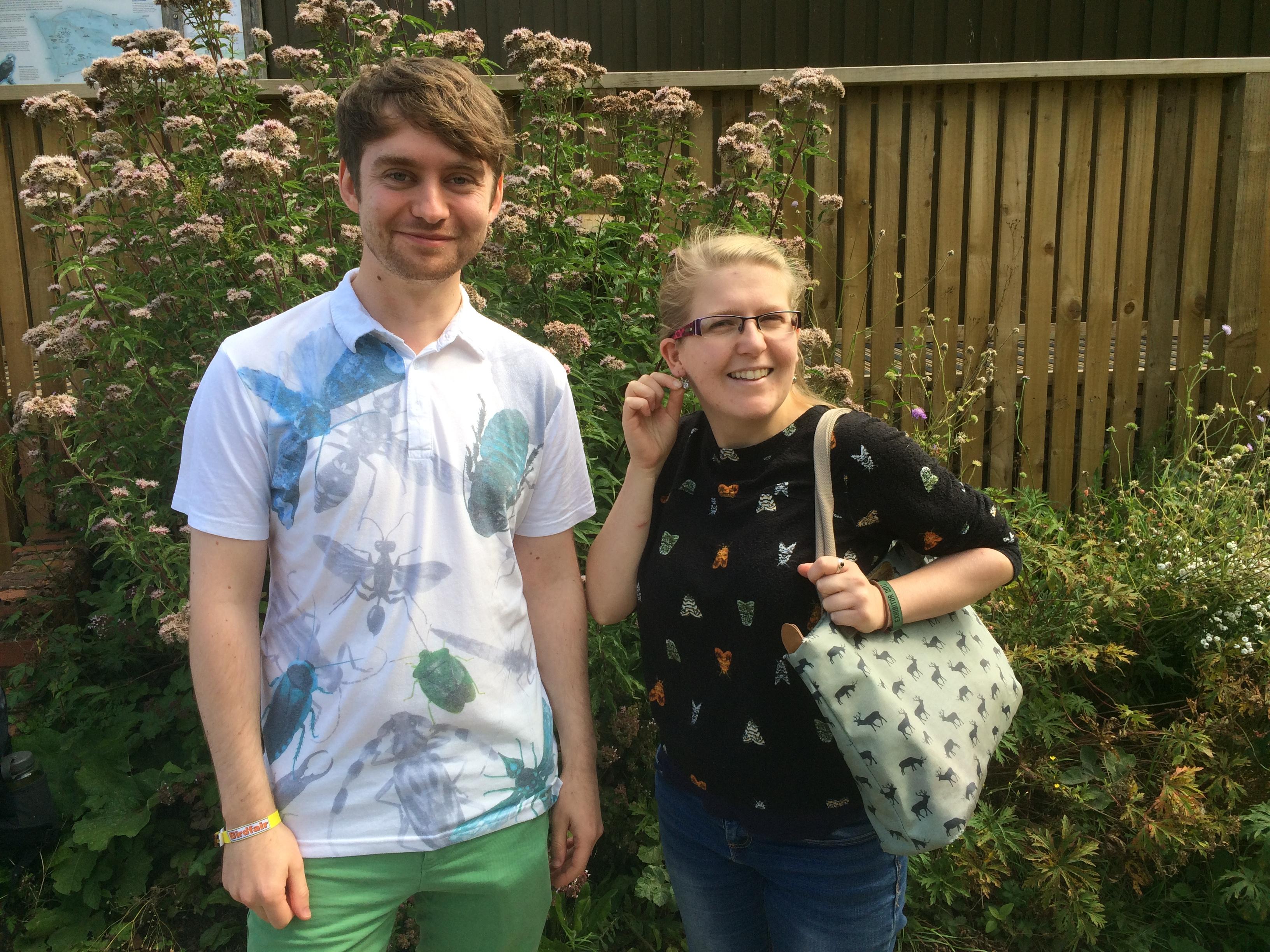 Adam Canning and Megan Shersby - Birdfair 2017