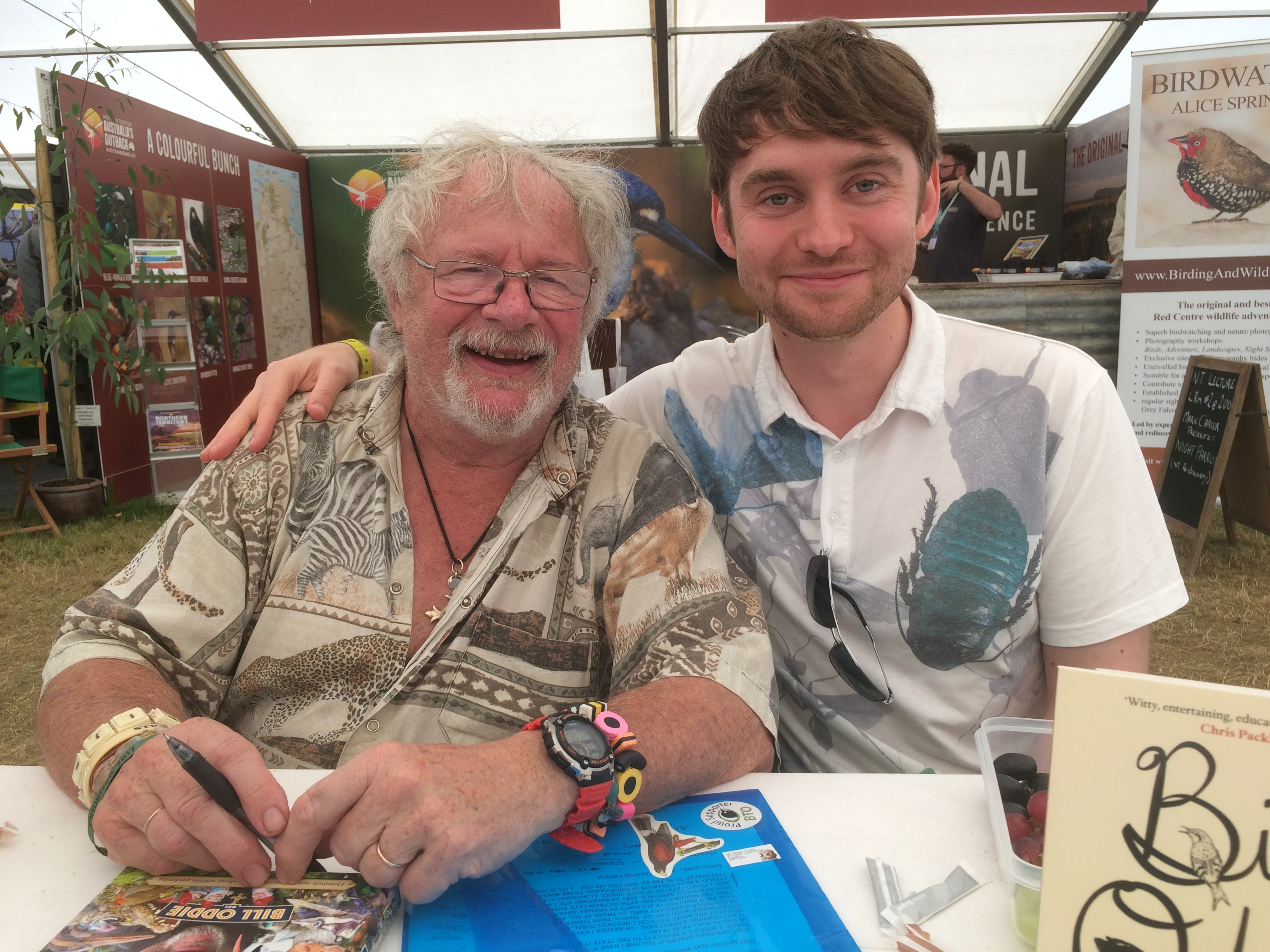 Bill Oddie and Adam Canning Birdfair 2017
